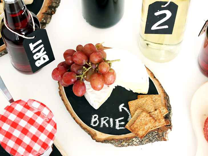 Brit + Co diy chalkboard tray cheap wedding gift ideas