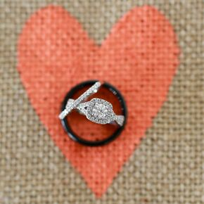 Round Diamond Ring With Cushion Halo