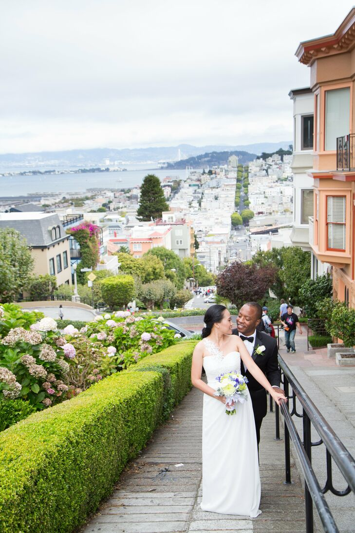 The couple hit all the top tourist attractions in San Francisco, including the iconic, crooked Lombard Street.