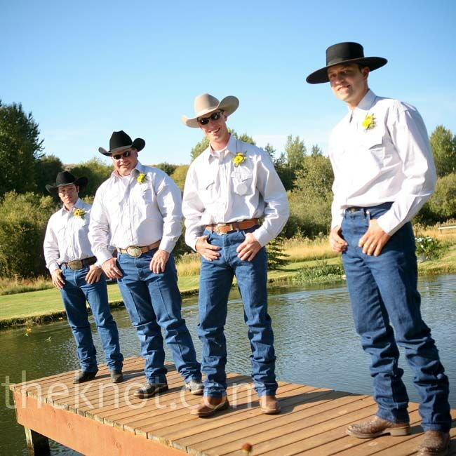 Cowboy Wedding Groomsmen