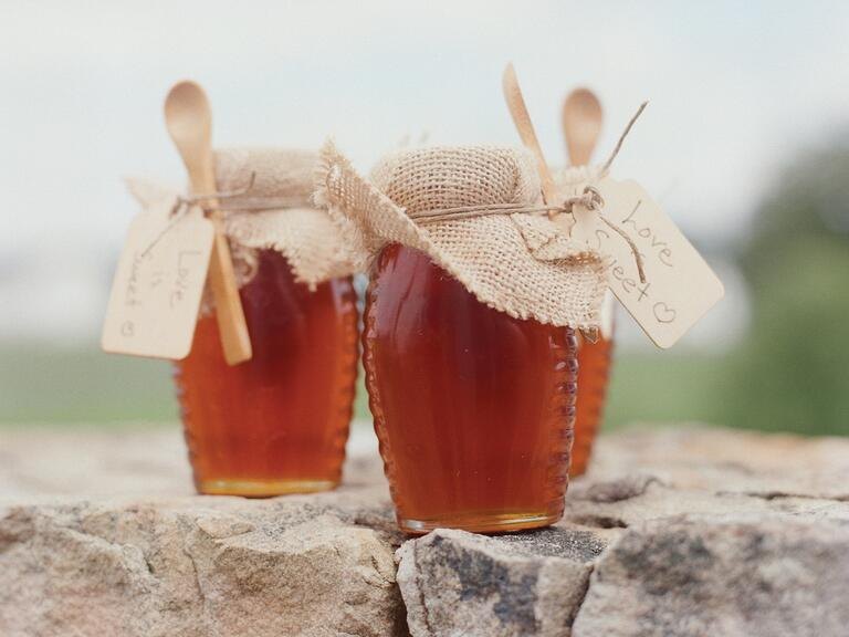 Homemade jam wedding favor