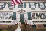 With the opulent Rosecliff Manor as their backdrop, Lindsey Steck and Derrick Lachman's romantic, vintage-inspired wedding exuded old-world elegance.