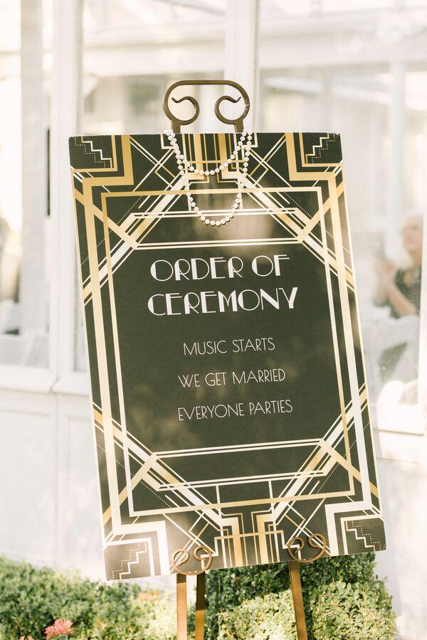 Art Deco Wedding Decorations + Accents