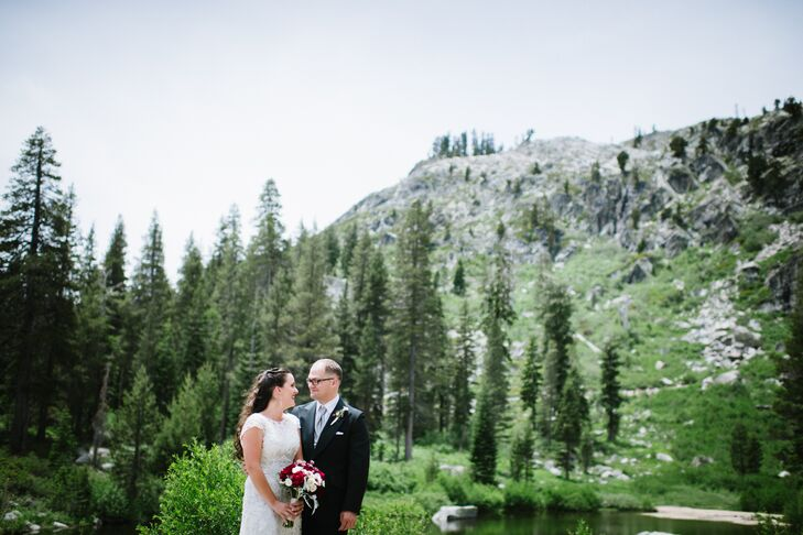 Since the couple met in the woods of Michigan, it was only natural they wanted to be surrounded by beautiful woodland for their wedding day. Kimberly