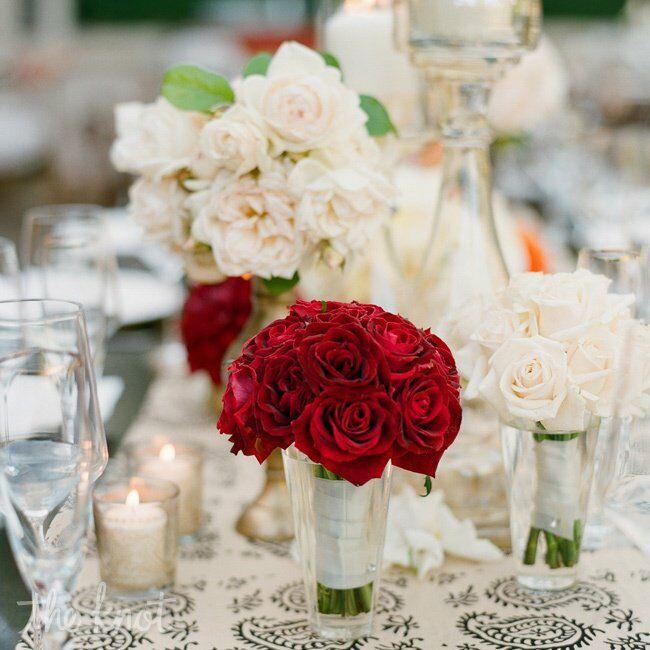 Red Rose Centerpiece - photo#18