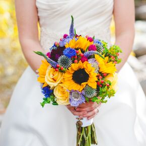 Yellow wedding bouquets yellow wildflower inspired bridal bouquet mightylinksfo