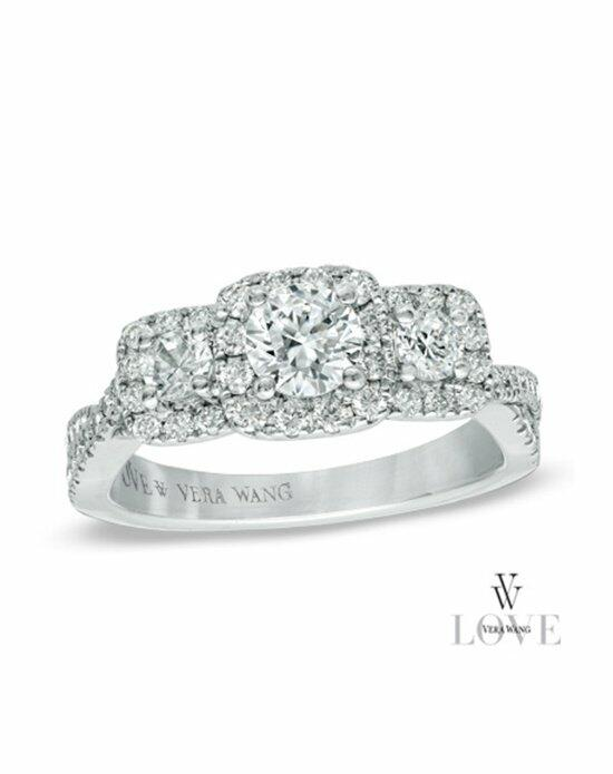 Vera Wang LOVE at Zales Vera Wang LOVE Collection 1 CT. T.W. Diamond Three Stone Twist Shank Engagement Ring in 14K White Gold  19600931 Engagement Ring photo