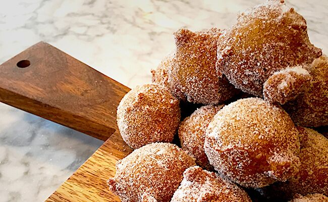 Coffee doughnut recipe from the cooking channel extra virgin stars coffee donut bites debi mazar and gabriele corcos of the cooking channels forumfinder Images