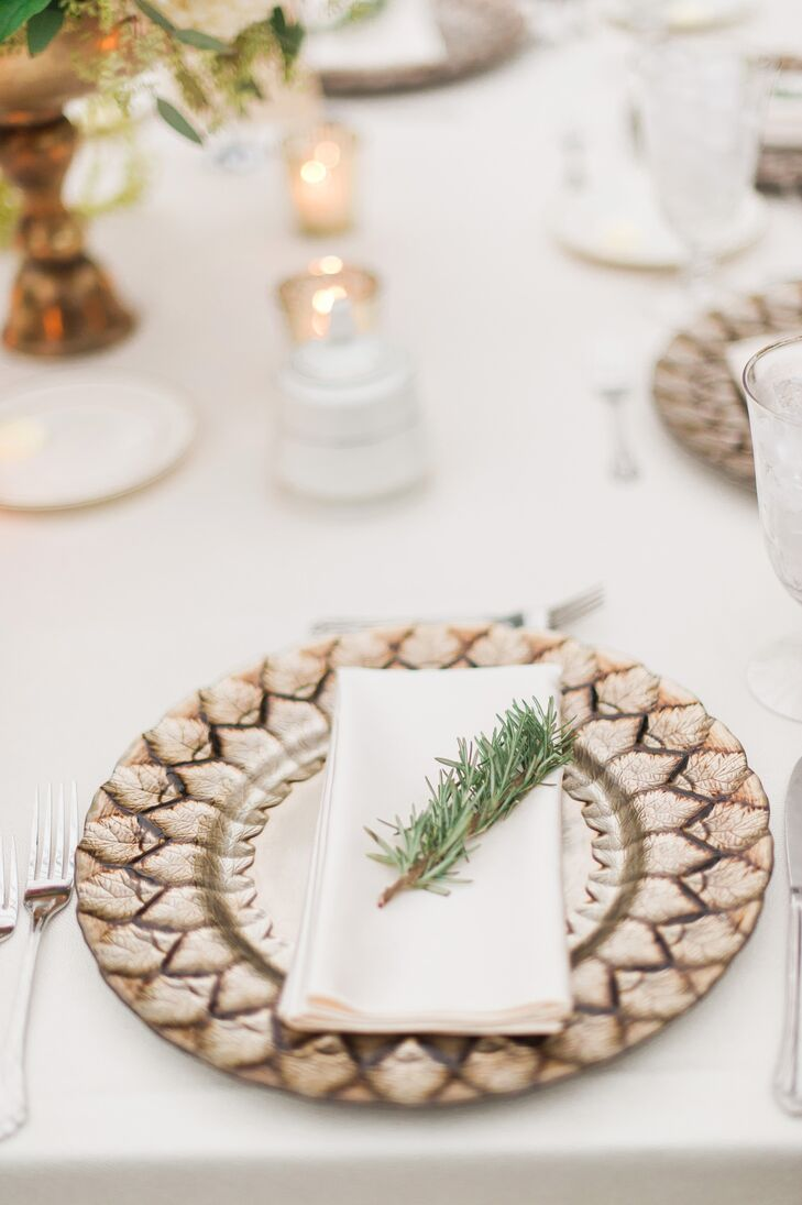 Taupe Dinnerware with Rosemary Place Setting