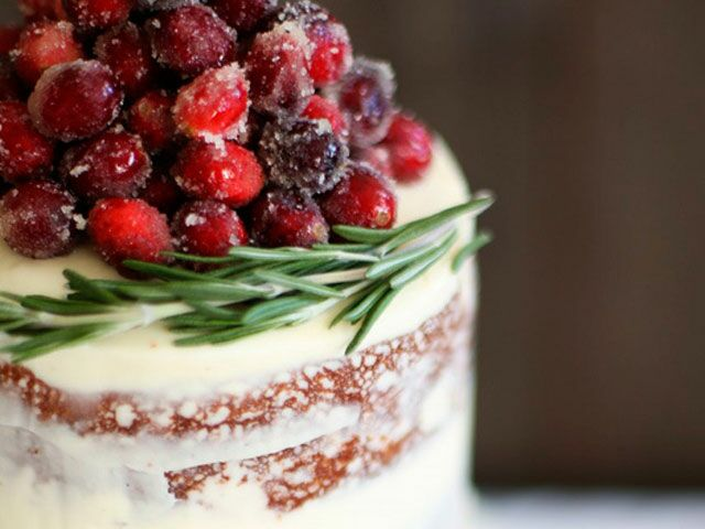 A Beautiful Cranberry Cake With White Chocolate Buttercream