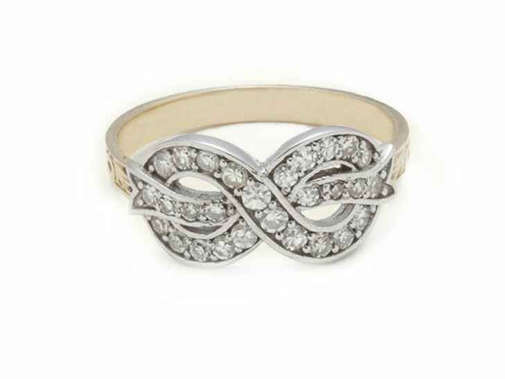 Erica Weiner Vintage Inspired Bow Engagement Ring
