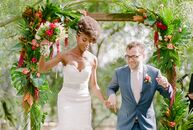 Bridgette Wiley's (28 and a software engineer) Caribbean heritage informed the design for her wedding to Alex Powell (35 and also a software engineer)