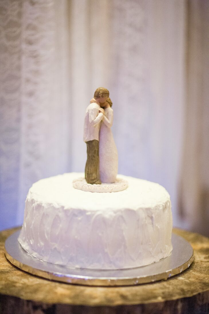Wooden Figurine Cake Topper