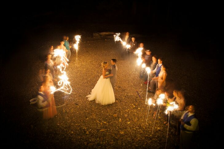 Bright Sparkler Exit Ceremony