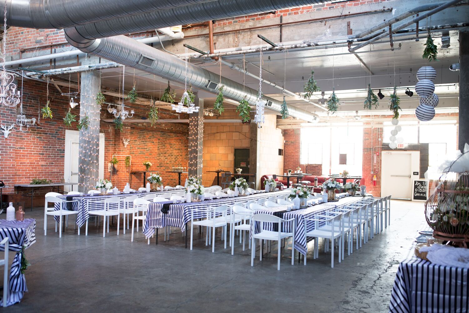 Striped Dining Tables Strongwater Venue