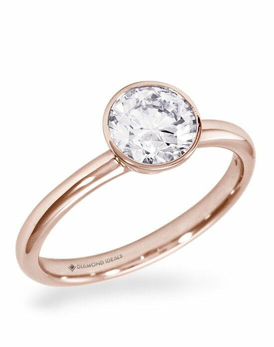 Diamond Ideals Custom Rose Gold Bezel SolitaireEngagement Ring Engagement Ring photo