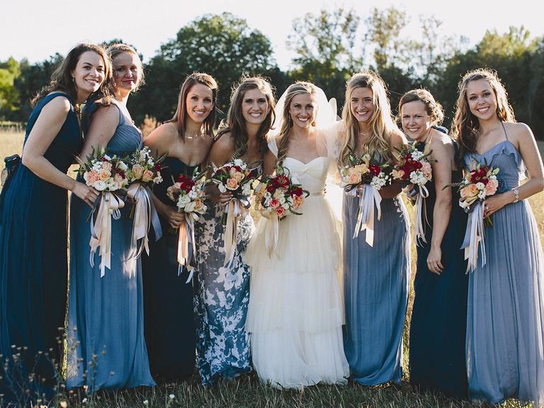 Mismatched bridesmaid dresses images