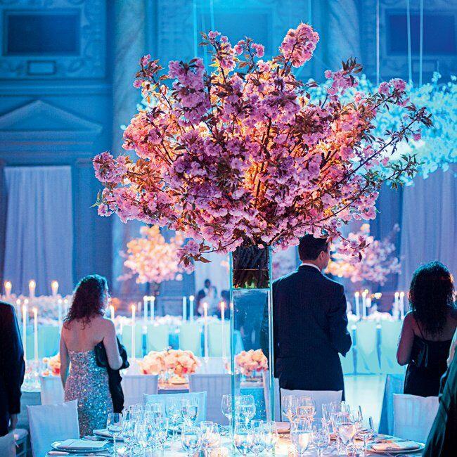 Pink Cherry Blossom Centerpieces