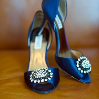 Real Blue Wedding Shoes