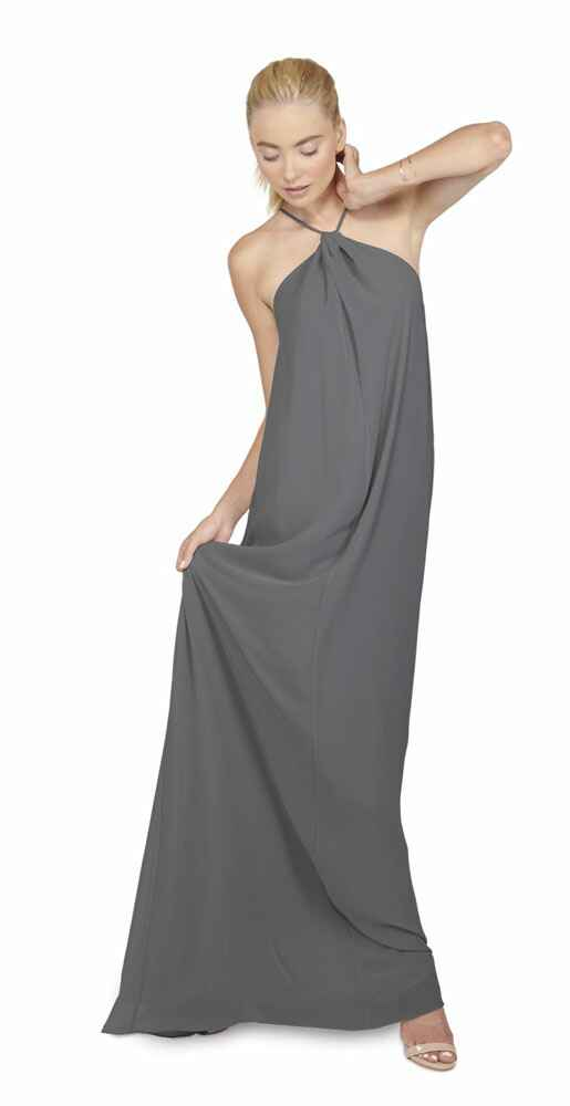 grey bridesmaid dress by Joanna August