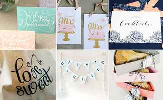 DIY Wedding Printables: TK / TheKnot.com