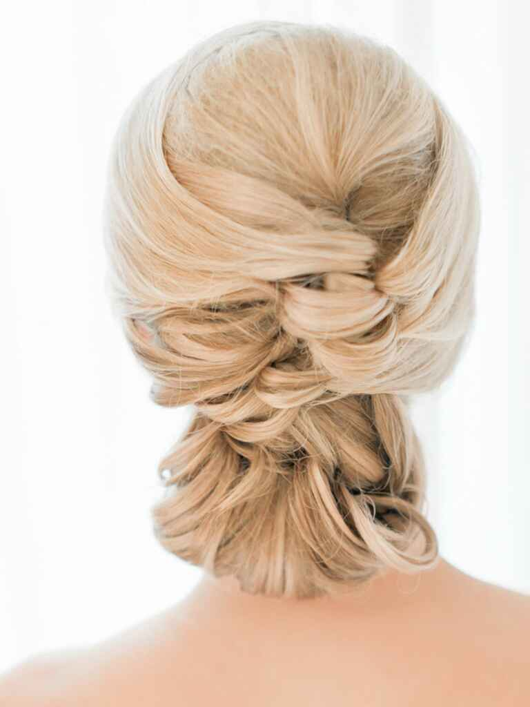 Wedding hairstyle updo messy