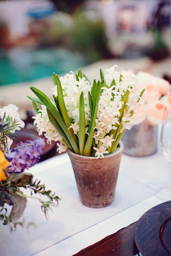Blue Texas Wildflower Bridal Bouquet