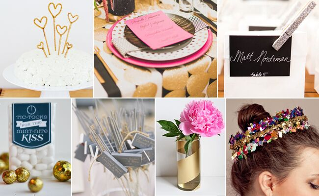 7 Genius DIY Projects For A New Year's Eve Wedding (Or Any Party!)