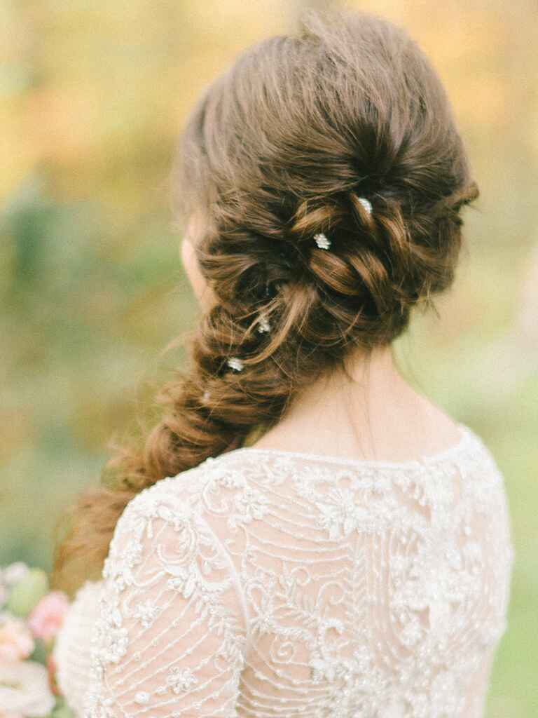 Wedding hairstyle fishtail braid