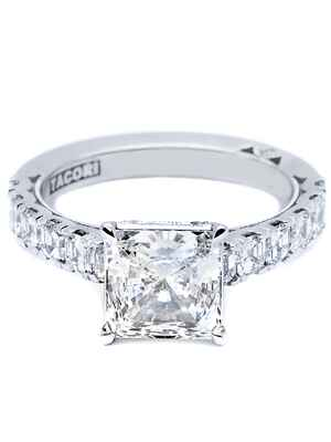 Tacori princess cut engagement ring
