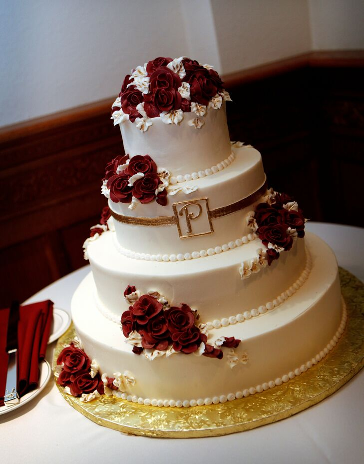 red and gold wedding cake pictures and gold wedding cake 19079