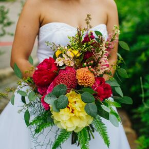 Wedding bouquets stunning colorful bridal bouquet junglespirit Image collections