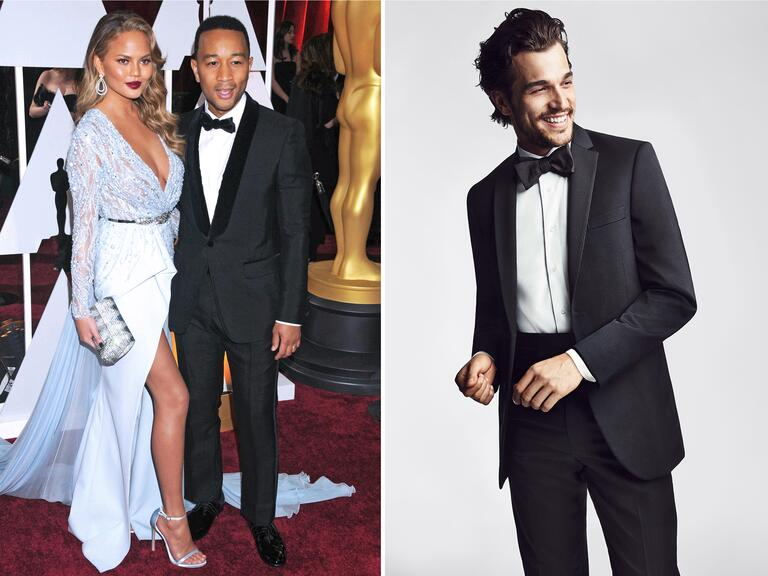 John Legend and wife Chrissy Teigen at the Oscars
