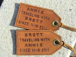 Etsy luggage tags personalized wedding gift ideas