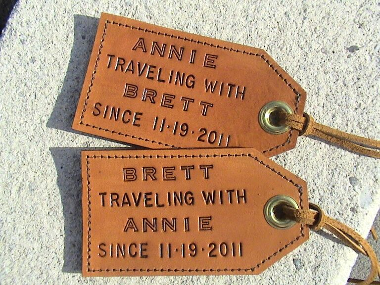35 wedding gift ideas etsy luggage tags personalized wedding gift ideas negle Images