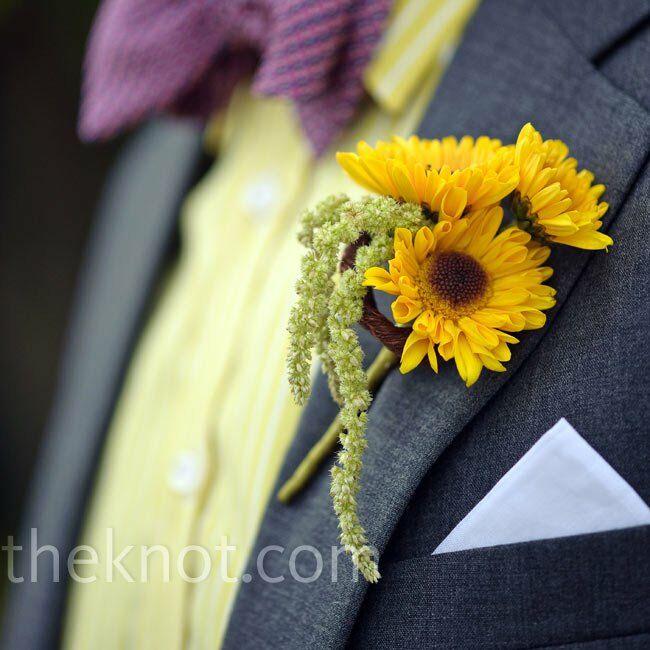 Yellow Sunflower Boutonniere
