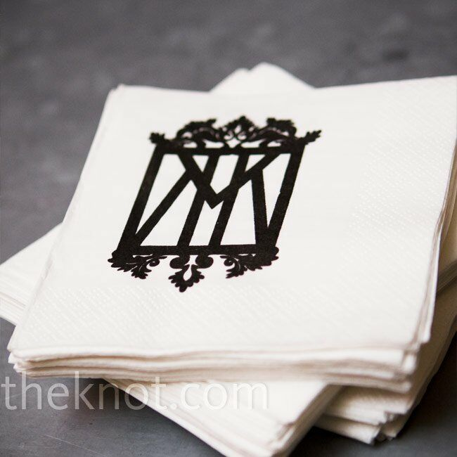 White Monogramed Napkins