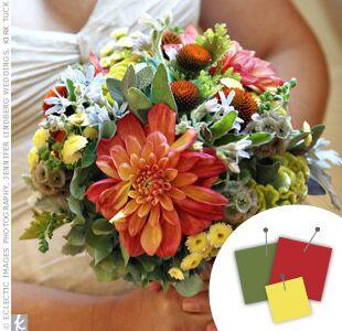 Wedding Color Combo Burnt Orange Green Yellow
