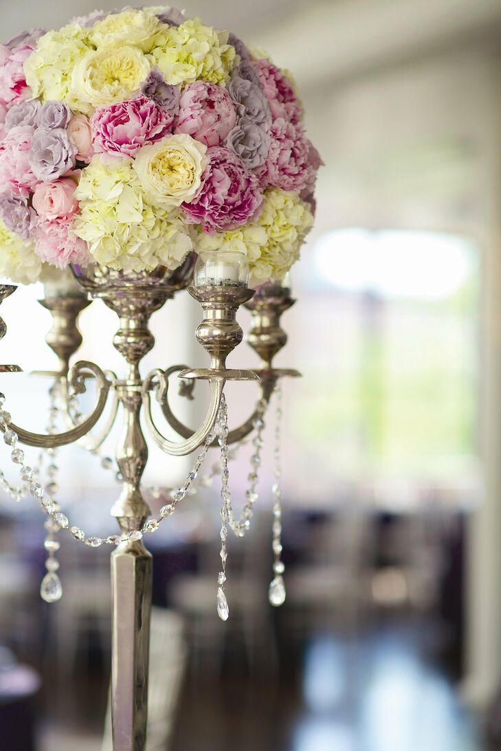 Tall Candelabra And Floral Centerpieces