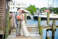 Along Shem Creek, Taylor Birmingham (30 and a mortgage loan officer) and Brent Grems (32 and an asset manager) celebrated their spring nuptials surrou