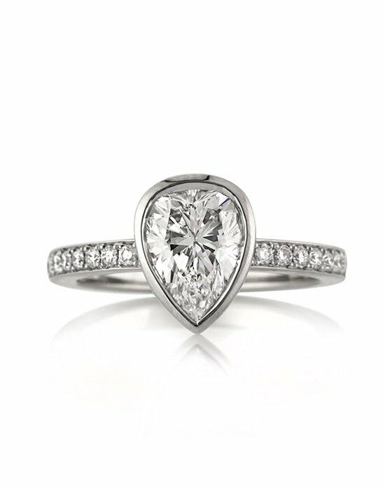 Mark Broumand 1.93ct Pear Shaped Diamond Engagement Anniversary Ring Engagement Ring photo