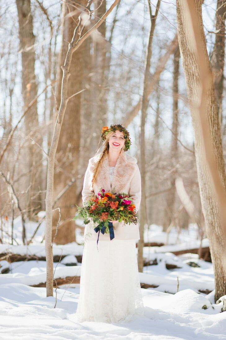 A Bohemian Winter Wedding At Thorpewood In Thurmont Maryland