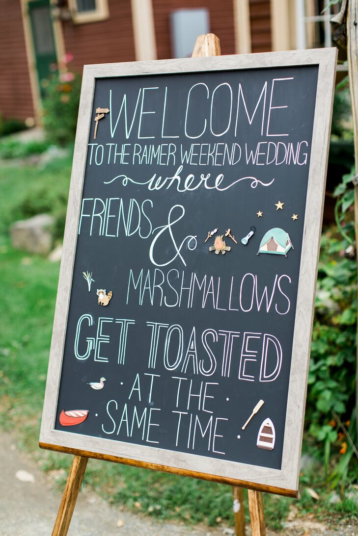 Ombre Hand-Lettered Chalkboard Welcome Sign