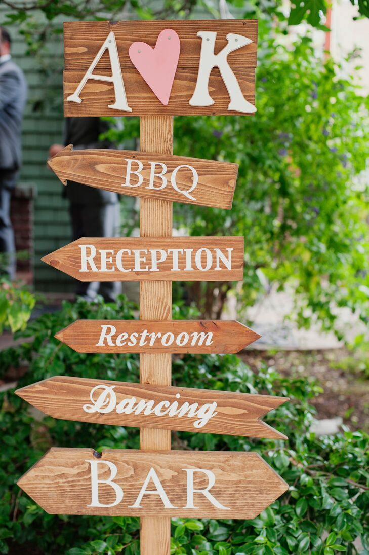 Tall Wooden Wedding Sign