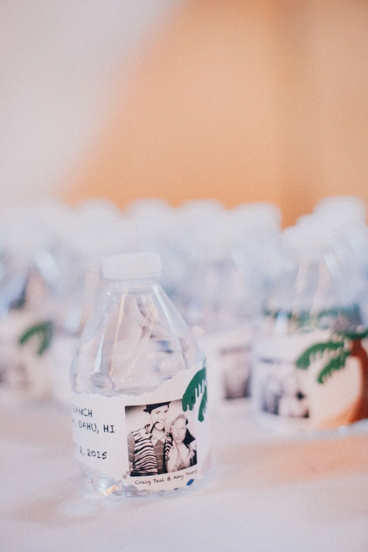 Mini Water Bottle Wedding Favors with Customized Labels