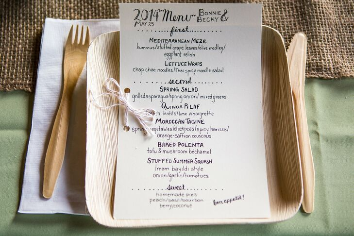DIY Calligraphy Menu Cards