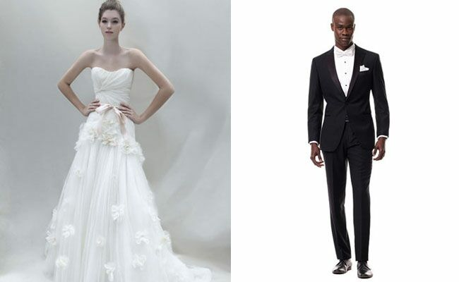 Tulle Dress and Black Lapel Tux