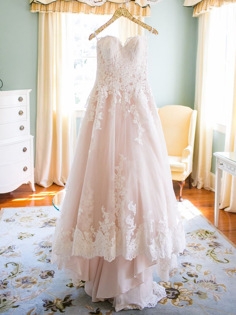 The prettiest blush and light pink wedding gowns blush pink strapless sweetheart ball gown by allure bridals junglespirit