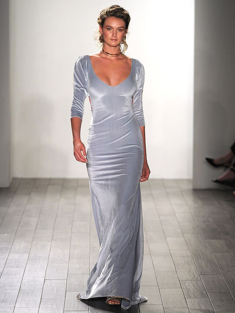 20 dreamy blue wedding gowns light blue sheath wedding dress by hayley paige junglespirit Gallery