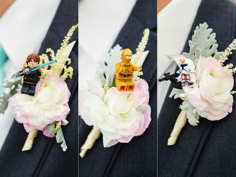 Lego Star Wars Character Boutonnieres